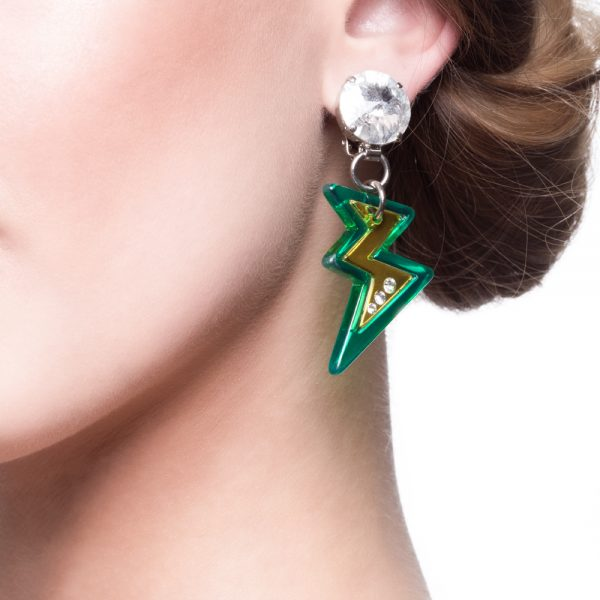 Lightning bolt earrings Miu Miu
