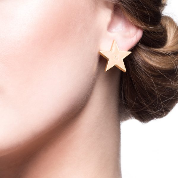 Vintage star earrings Chanel