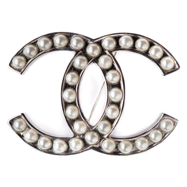 White Pearl Brooch Chanel