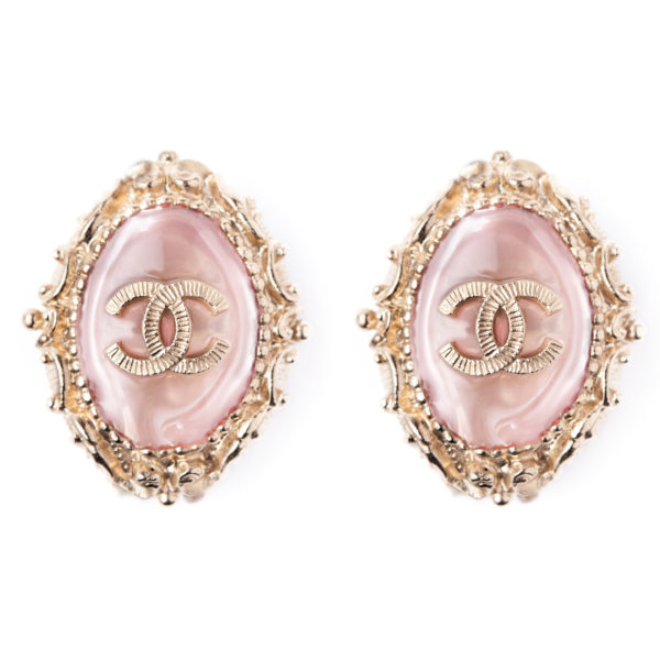 Pink crystal earrings Chanel