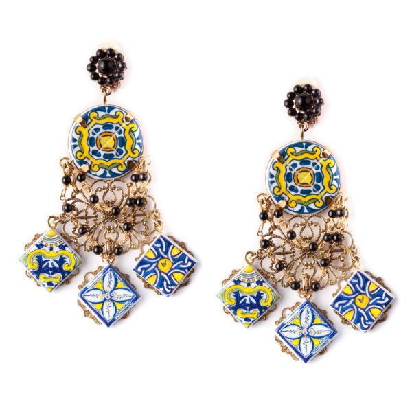 Majolica earrings