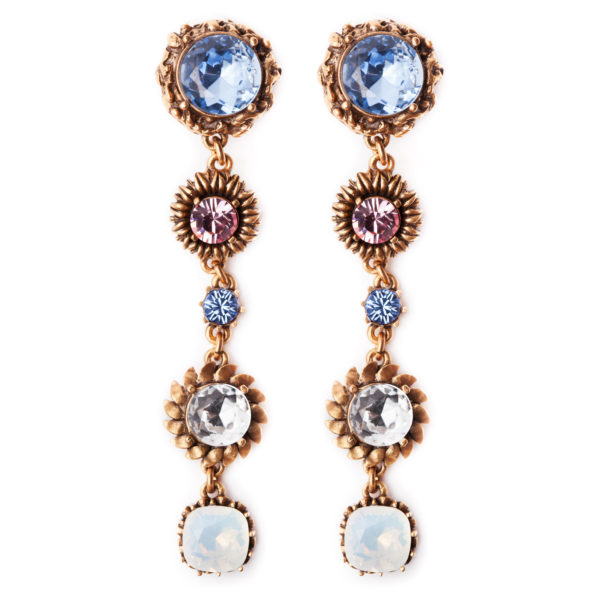 CRYSTAL Drop EARRINGS OSCAR DE LA RENTA