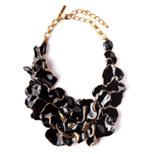 Black collar necklace