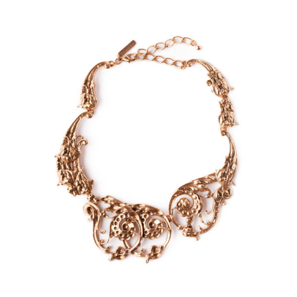 Scroll necklace Oscar de la Renta