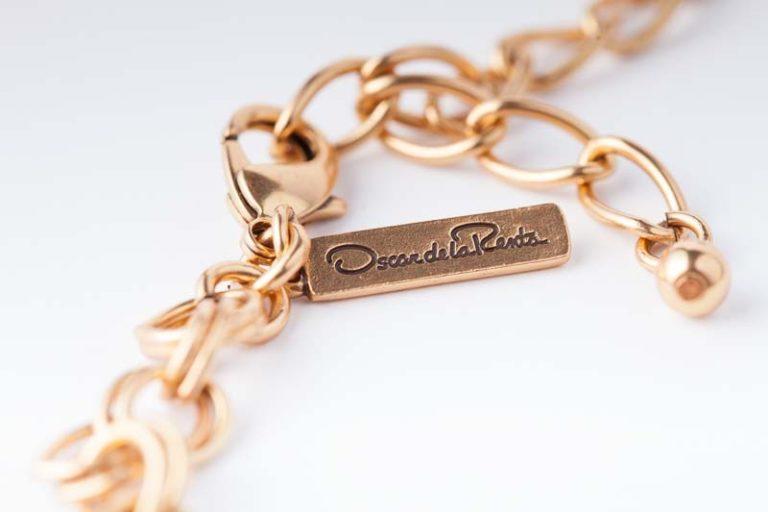 Gold cabochon necklace Oscar de la Renta