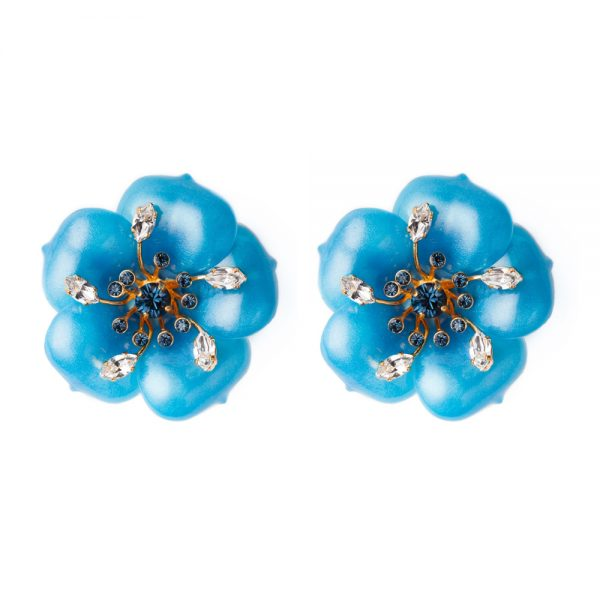 Oversized flower earrings