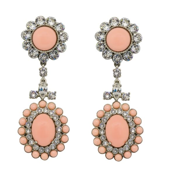 Pink stone dangle earrings Miu Miu