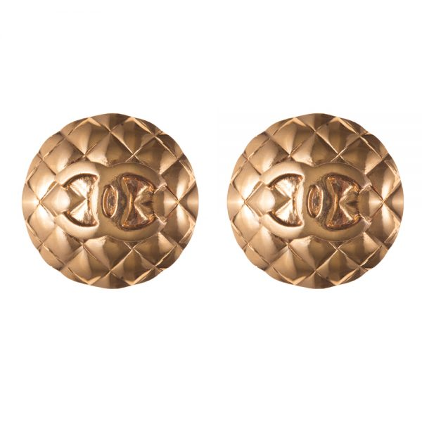 Vintage gold earrings Chanel