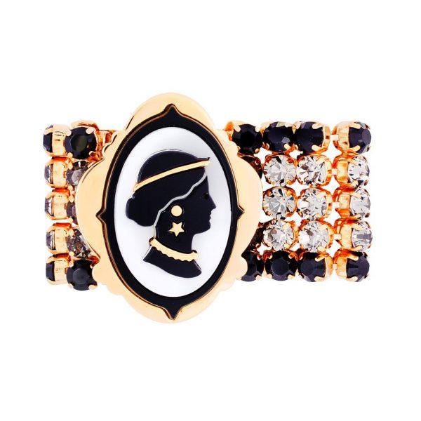 Cameo crystals bracelet