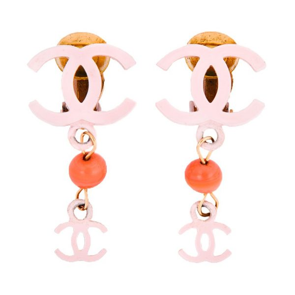 Vintage coral earrings Chanel