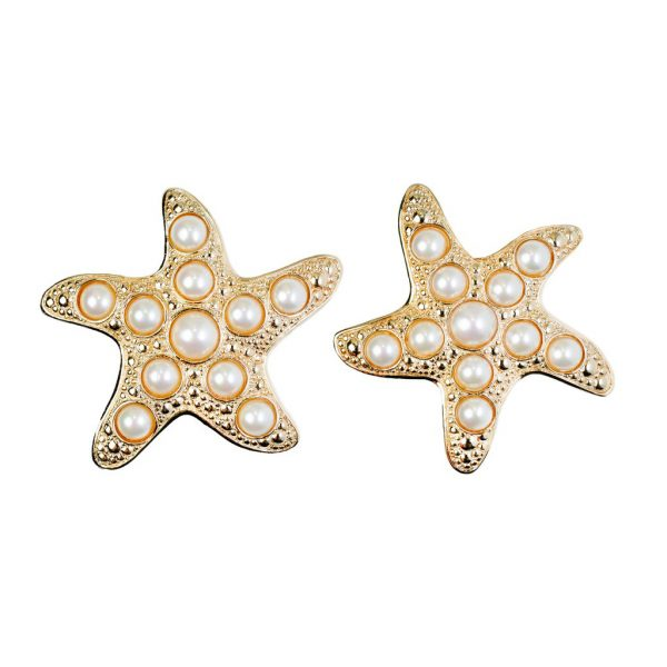 Vintage starfish earrings Christian Dior