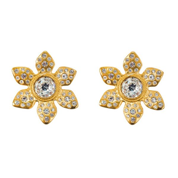 Vintage flower head earrings