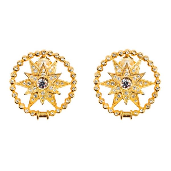 Vintage gold stars earrings Dior