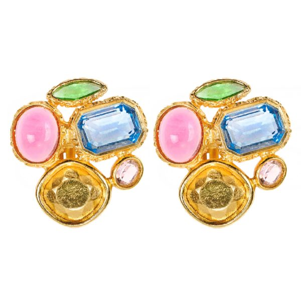 Vintage candy crystal earrings