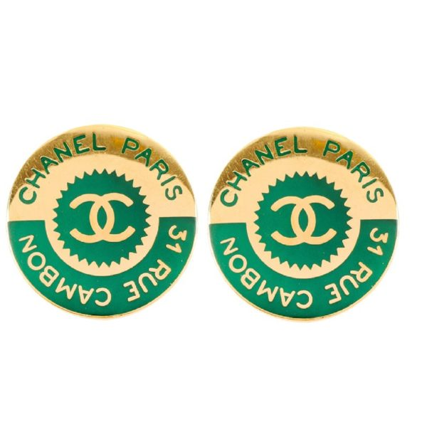 Vintage disc style earrings Chanel