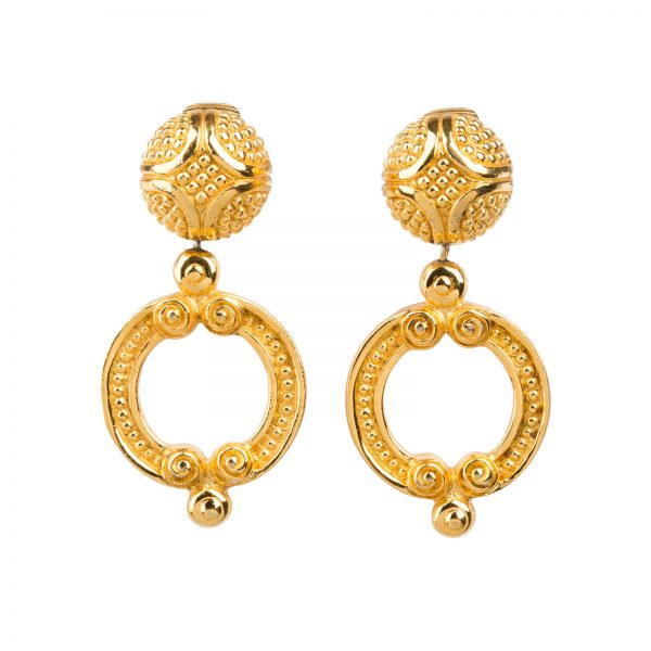 Vintage baroque earrings Christian Dior