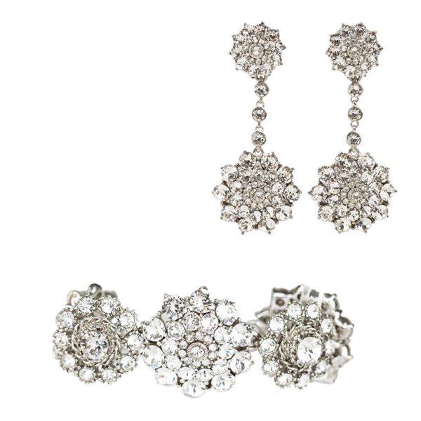 Crystal floral set Oscar de la Renta