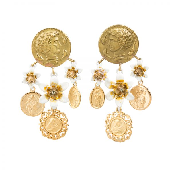 Gold coin earrings Dolce&Gabbana