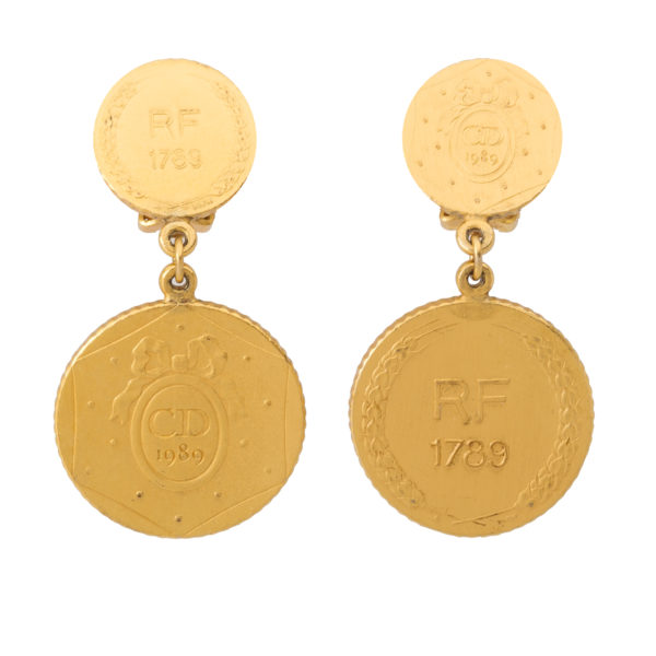 Vintage Anniversary Coin Earrings