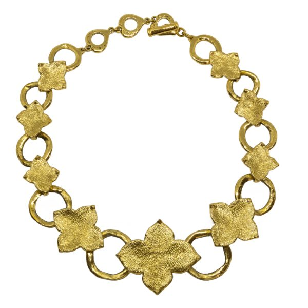 Vintage Abstract Flower Necklace YSL