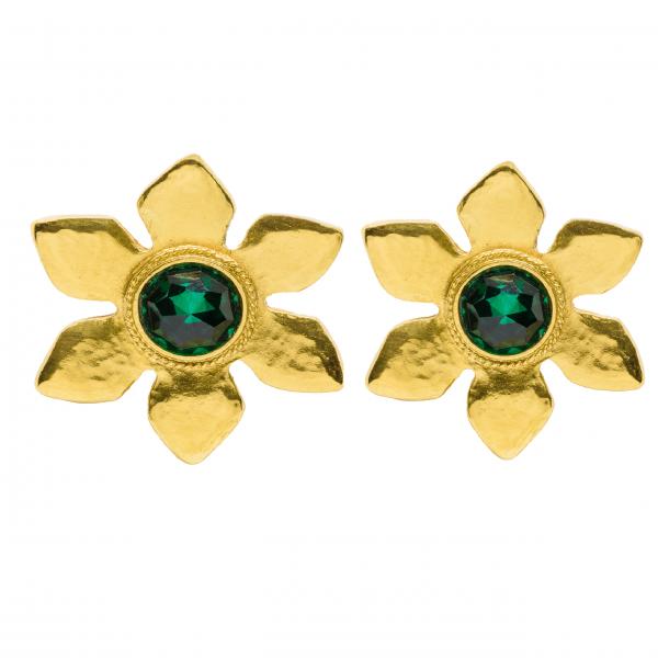 Vintage Emerald Stone Flower