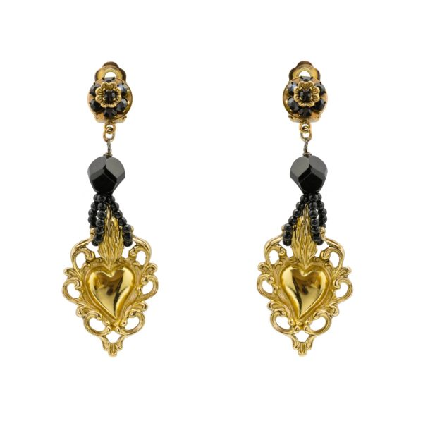 Sicily gold heart earrings