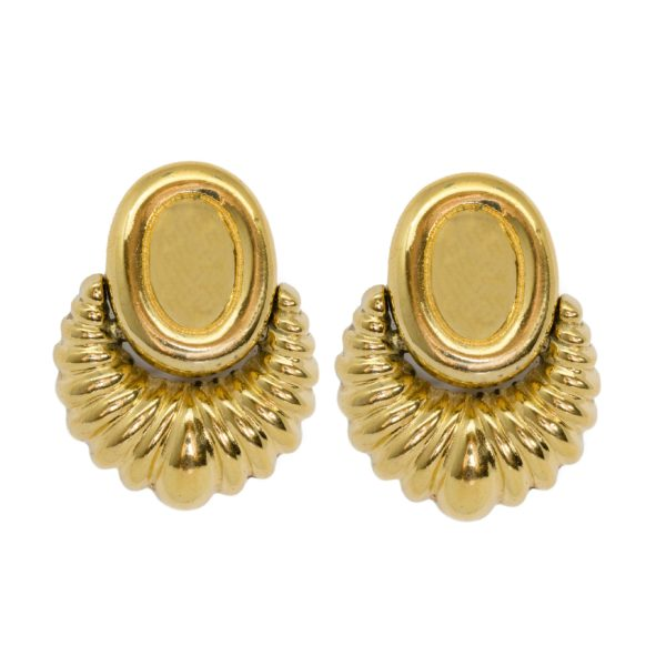 Vintage Ribbed Pattern earrings