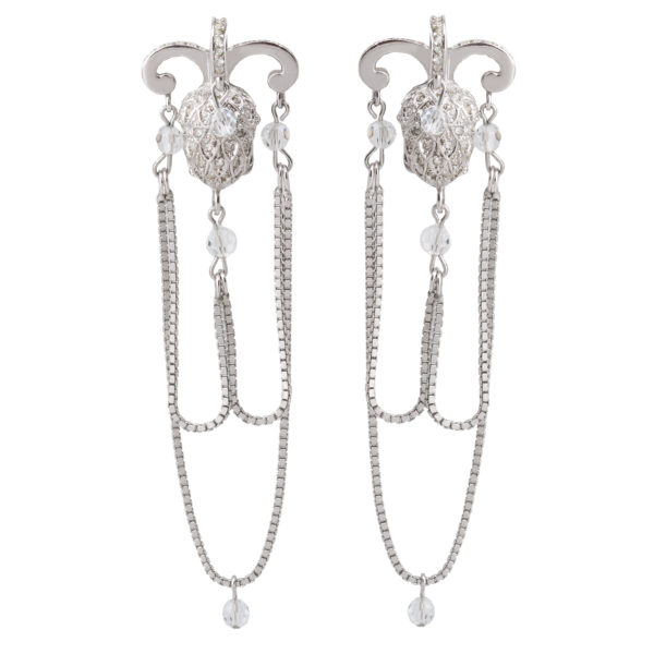 Silver Acorn Earrings Dior