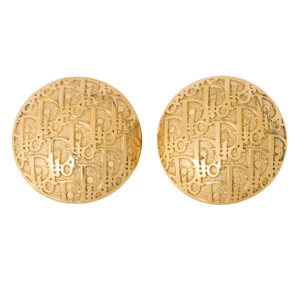 Vintage Trotter GOLD Disc earrings Dior