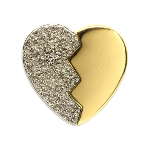 Vintage broken heart brooch