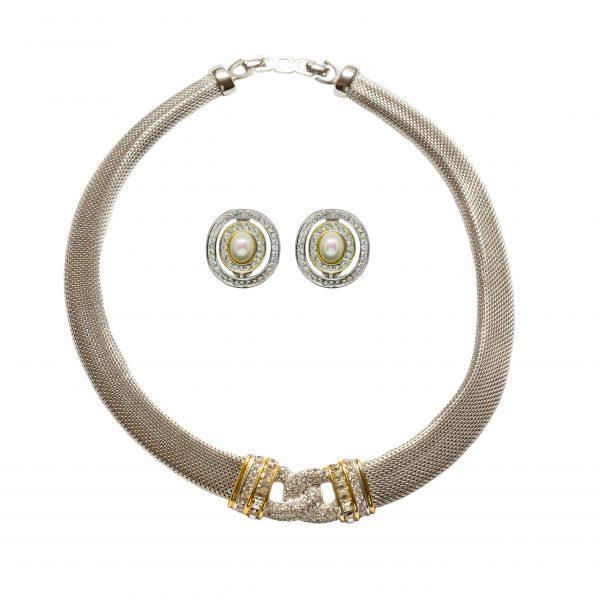 Vintage silver knot set