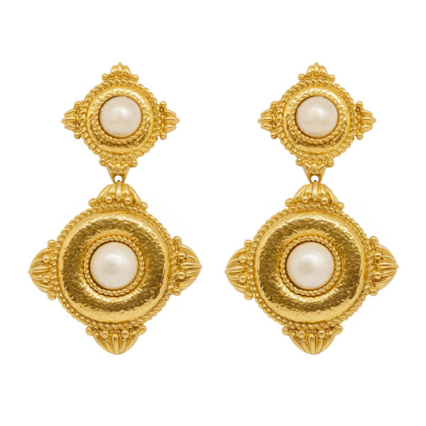 Baroque pearl earrings YSL