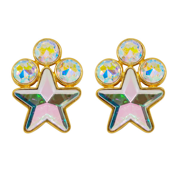 Disco star earrings