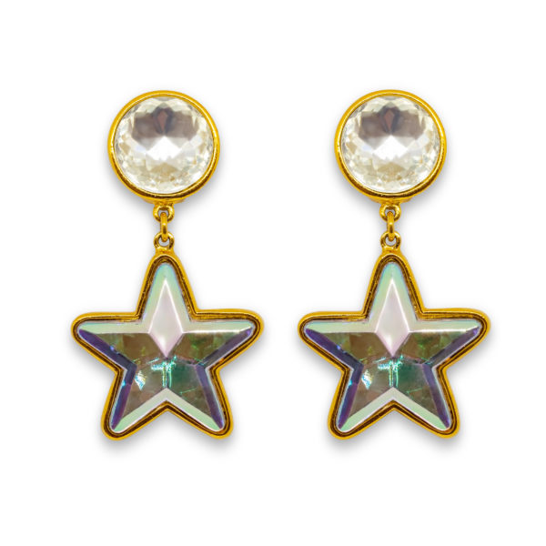 Disco star dangle earrings