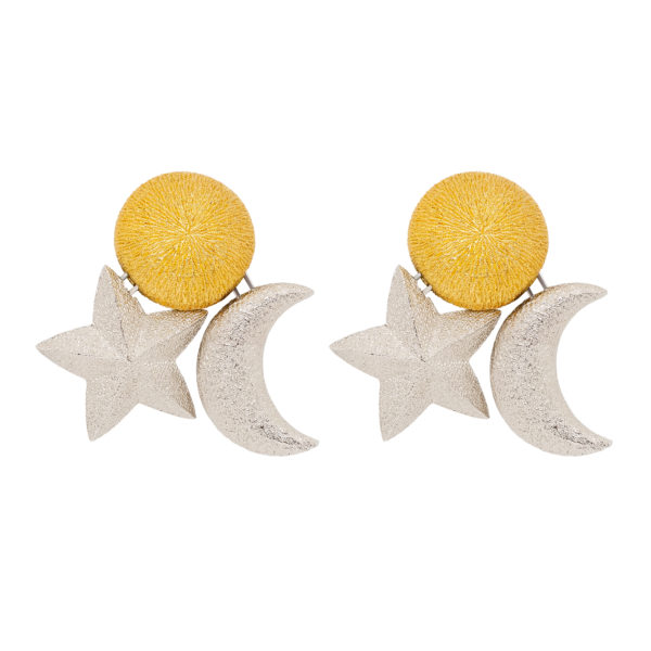 Celestial sun star moon earrings