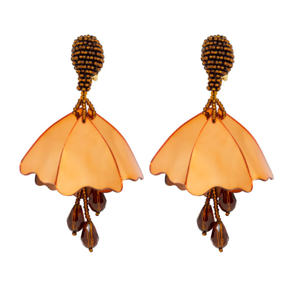 Gold impatiens earrings