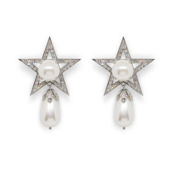 Star drop Pearl Earrings Miu Miu