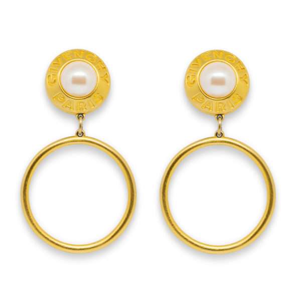 Gold signature hoop earrings