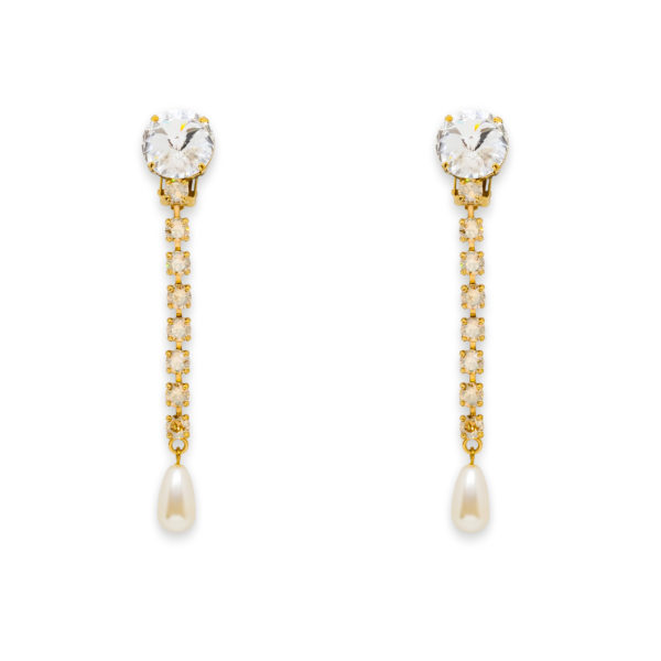 Embellished crystal earrings Miu Miu