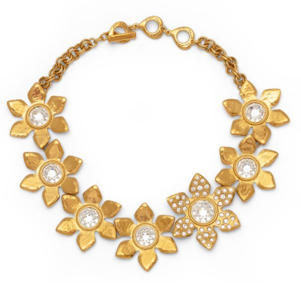 CRYSTAL STONE FLOWER NECKLACE YSL