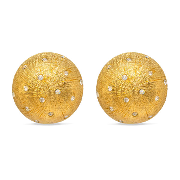 Scratch structure round earrings