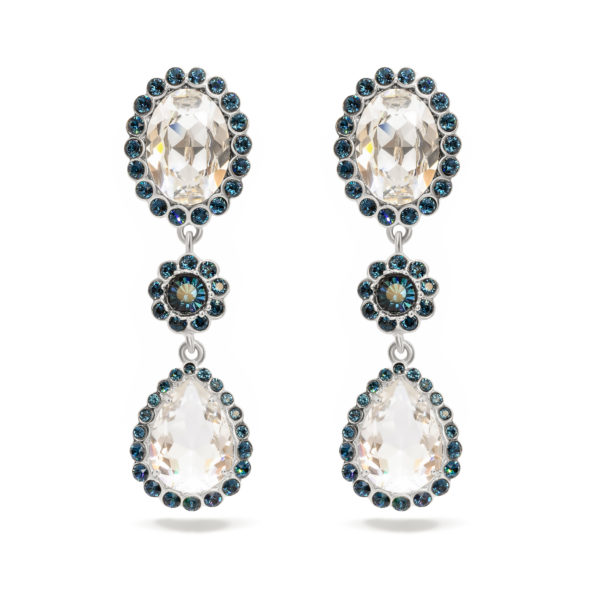 Crystal Drop Flower Earrings Miu Miu