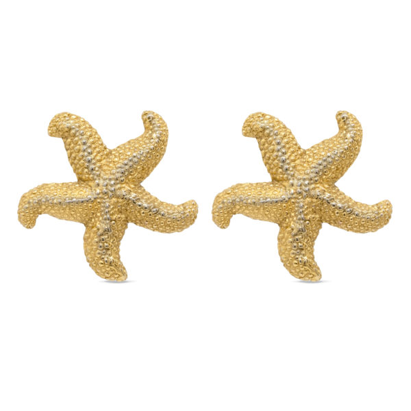 Vintage massive starfish earrings YSL