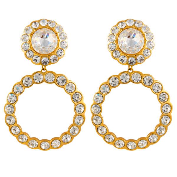 Vintage Crystal Rhinestons earrings