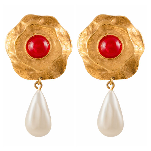 Vintage GRIPOIX PEARL EARRINGS