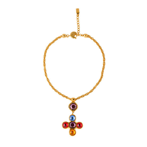 Vintage Jewelled Cross Necklace Robert Goossens