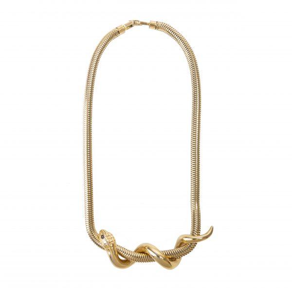 Vintage serpent gold necklace