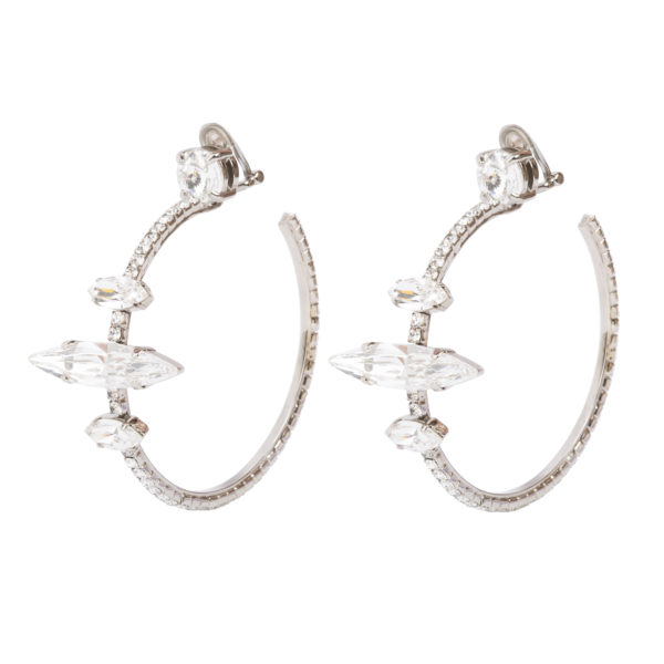 Crystal Oversized Hoops Miu Miu