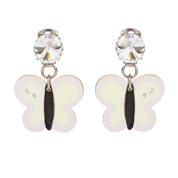 Plexiglass butterfly earrings Miu Miu