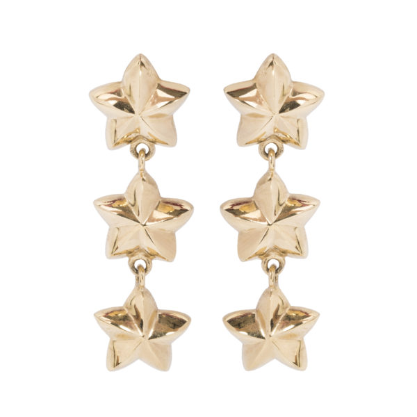 Vintage star rope earrings